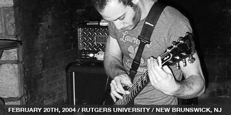 The Stand In - February 20th, 2004 - Rutgers University - New Brunswick, NJ